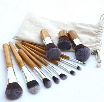 Harga Make-up For You 11Pcs Cosmetic Makeup Tool Powder Blush EyelashConcealer Lip Brush Bamboo handle