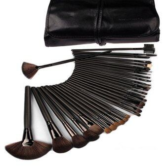 Harga Make-up For You Premium Kabuki Makeup Brush Set CosmeticsFoundation blending blush 32PCS Set Black