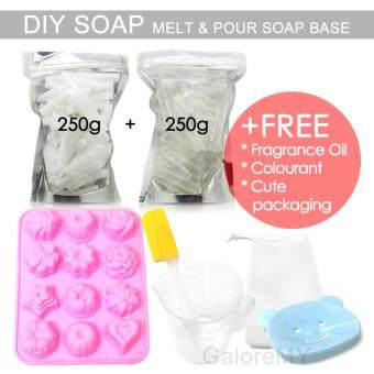 Melt & Pour Soap Base 500g Set | DIY Soap Making Set | M&P Glycerin Soap | Make Your Own Handmade Soap