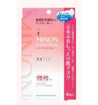 Minon Amino Moist Face Mask - 22ml Pack in 4 Piece