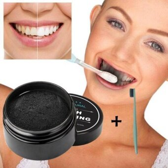 Natural Activated Organic Charcoal Teeth Whitening Powder Turbo carbon with Free Teeth brush 1