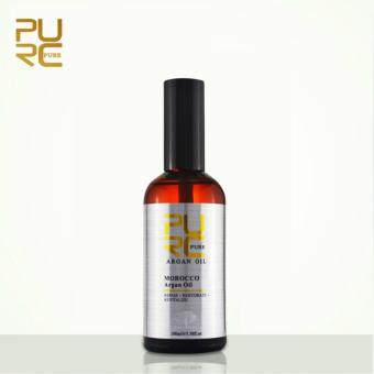 Harga PURC Moroccan Pure Argan Oil 100ml hair care and protects damaged hair for moisture hair salon