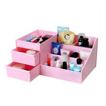 Harga Random Color Wooden Drawer Style Makeup Cosmetics Storage Box Case