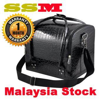 Harga SSM Professional Makeup Box Make up Bag Make up case OrganizersBlack Color