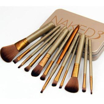 Harga Yika NK3 12 makeup brush gold tin box NK4NK5 7 makeup brushprofessional make-up make-up tool set