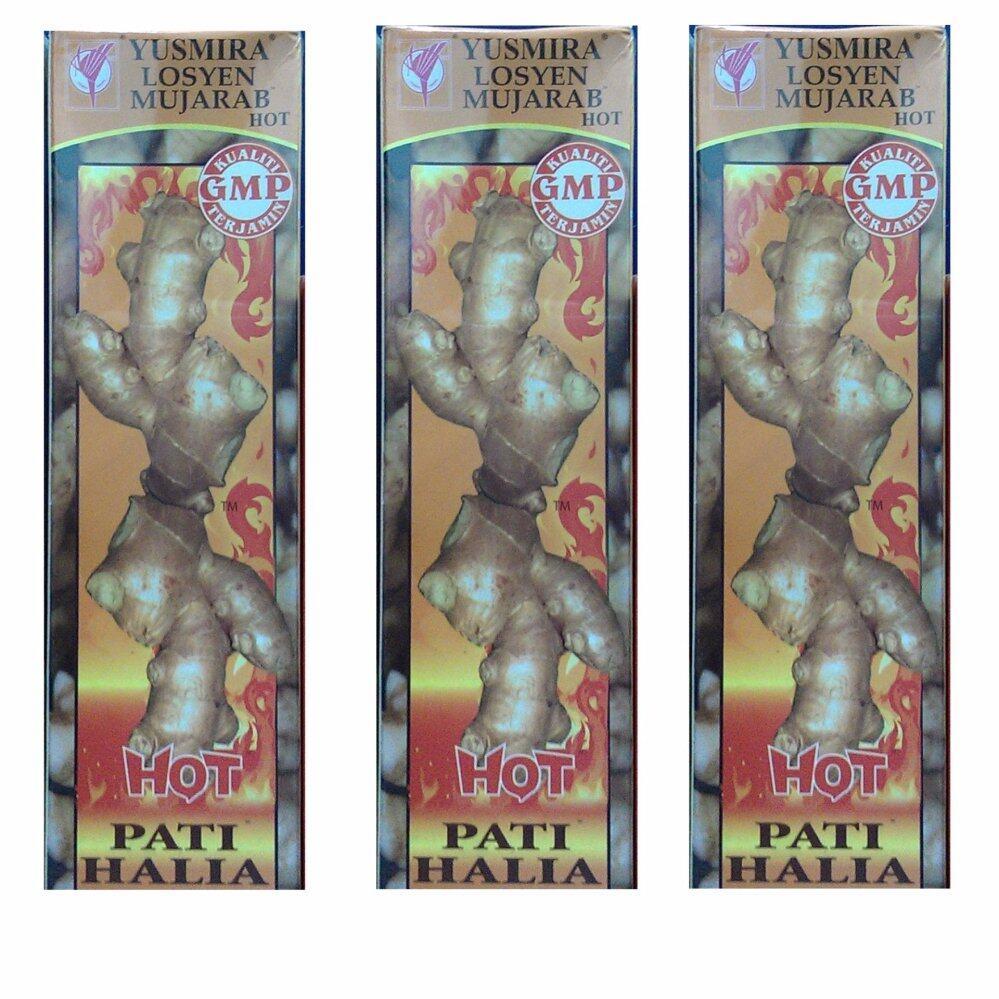 Yusmira Lotion Mujarab Hot Pati Halia 160ml x 3