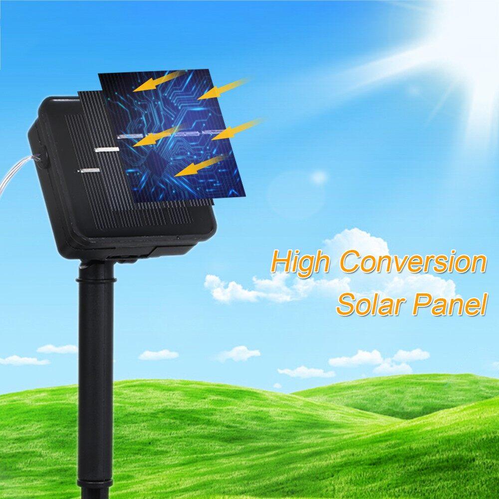 Lighting - 12M/39.4Ft 7.2W 120 LED Solar Powered Energy Rope Light Lawn Lamp Multi-color Co - MULTICOLOR / WARM WHITE / WHITE