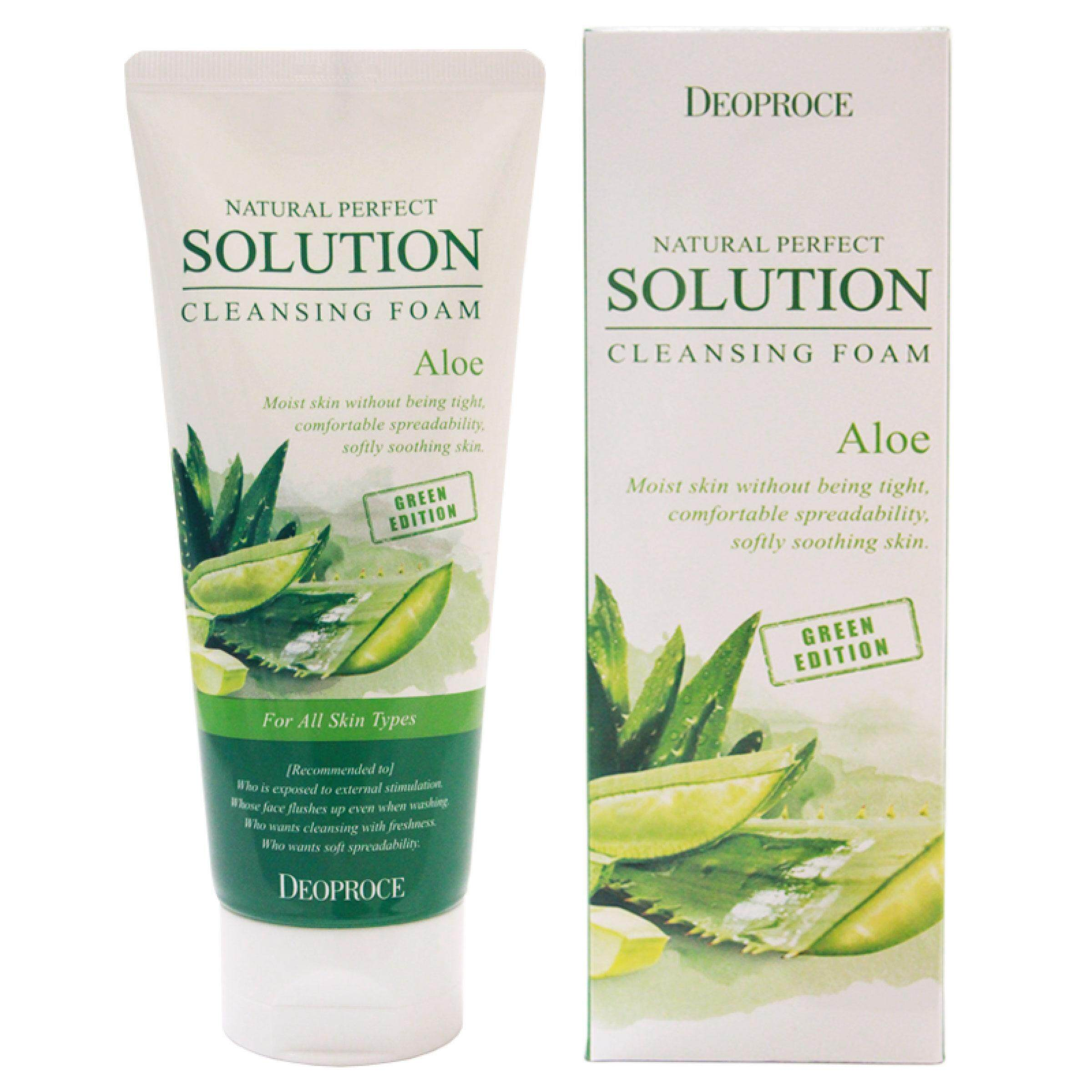 Deoproce Natural Perfect Solution Cleansing Foam Aloe 170gm