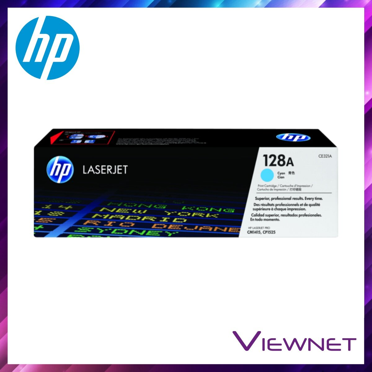 HP 128A Magenta / Yellow / Cyan / Black Original LaserJet Toner Cartridge