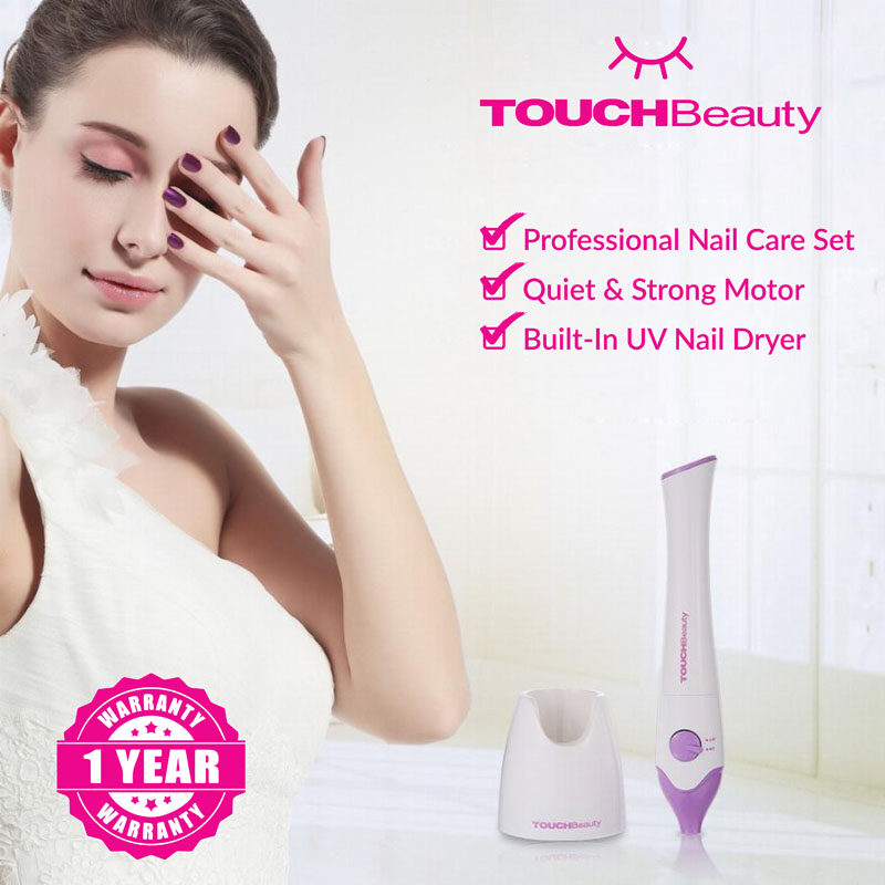 TOUCHBeauty Electric Manicure/Pedicure set TB-1335 5 in 1 PROFESSIONAL Portable NAIL CARE SET/Electric Nail Drill Manicure Pedicure Acrylic Nail Kit/BUILT-IN UV NAIL DRYER