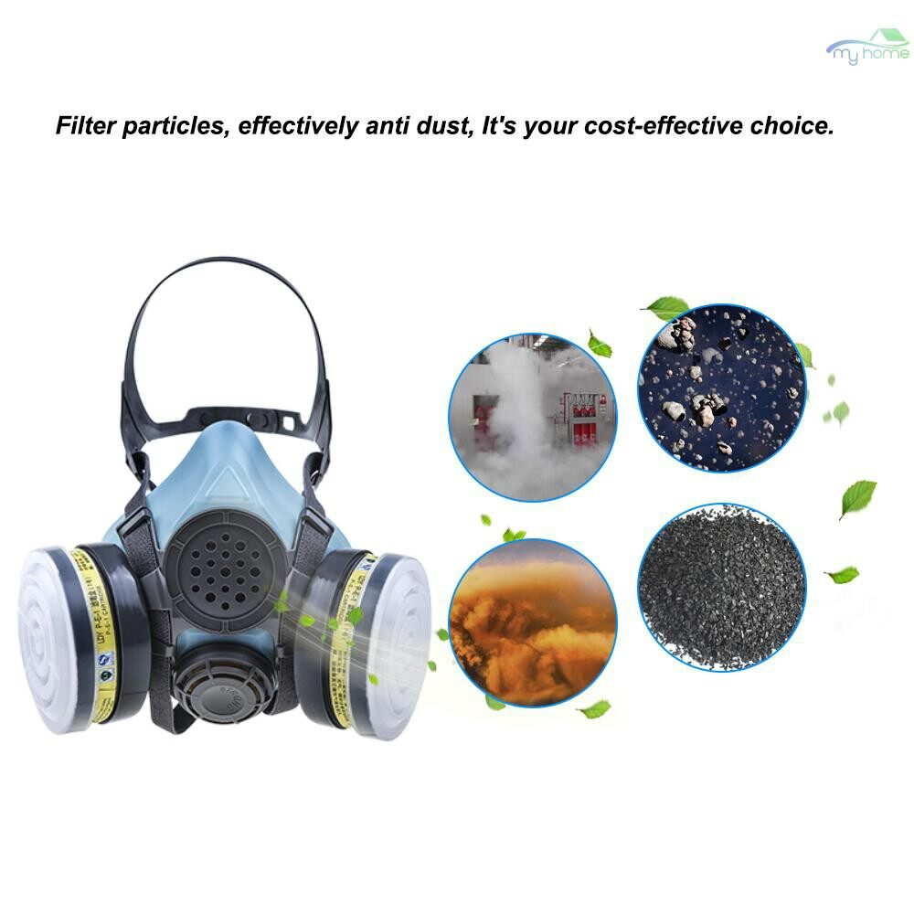 Protective Clothing & Equipment - STRONG/ST-M50G-1B Gas Mask Respirator Dual Filter Half Face Mask Painting Spraying Silica Gel Mask - 04 / 03 / 02 / 01