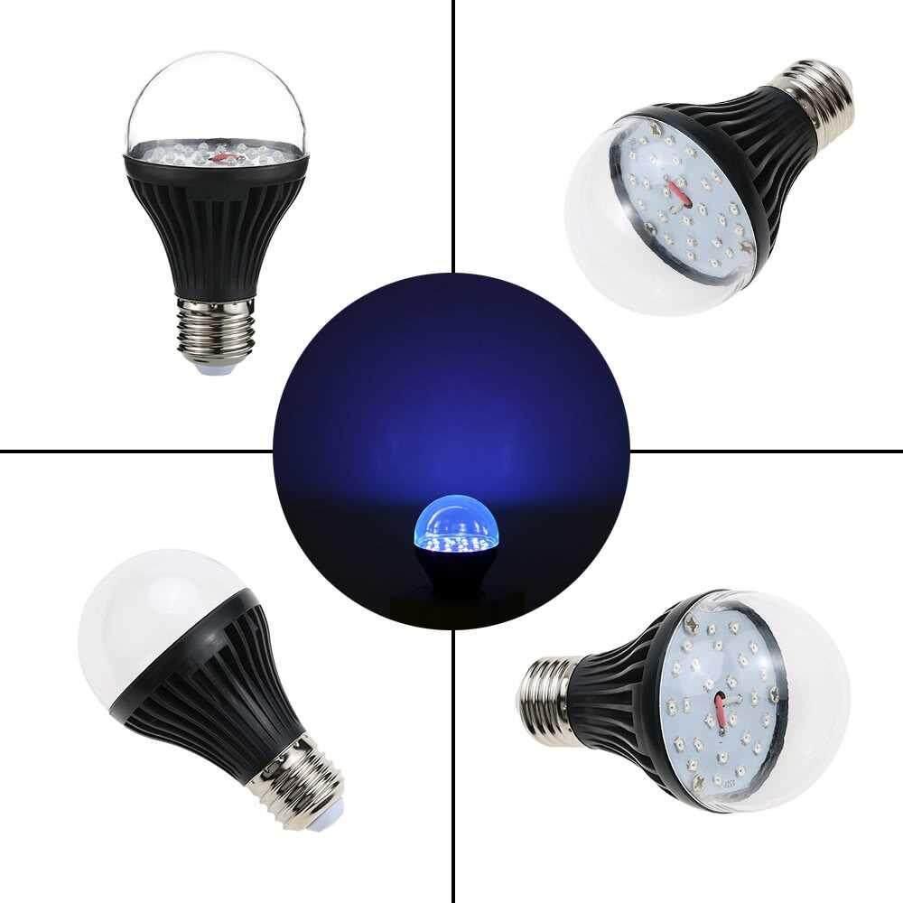 7W 25 LEDs UV Light Bulb A19 Ultraviolet Blacklight with E27 Lamp Base