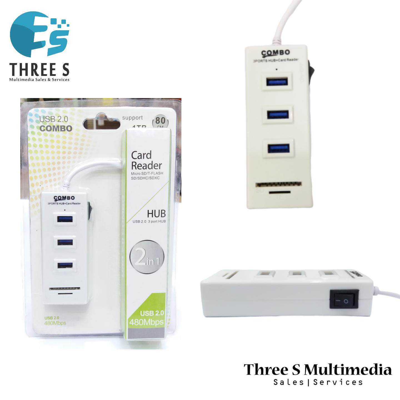 DMX CARD READER + USB HUB COMBO USB 2.0