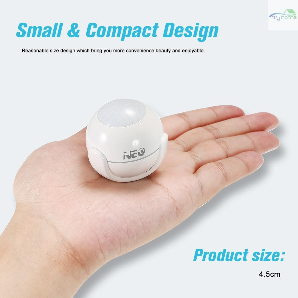 Sensors & Alarms - NEO WiFi PIR Motion Sensor Detector Home Alarm System Super MINI Shape,White - Security Surveillance
