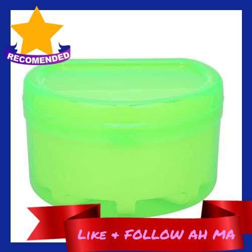 Best Selling 1Pc Denture Box Denture Case Dental False Teeth Cleaning Box Denture Bath Container Retainer Denture Holder (Green)
