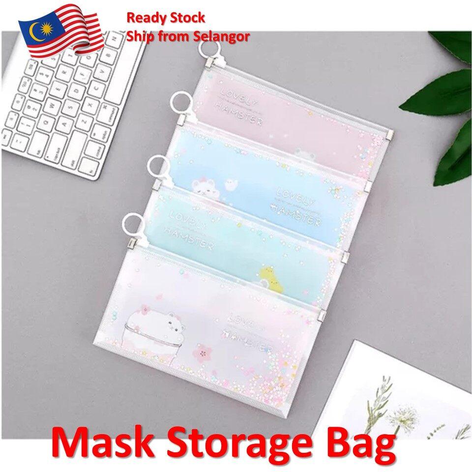 Shining Mask Storage Bag Mask Keeper Mask Storage Face Masks Organizer Container Case Mask Holder Japanese Design (1 set 4 pcs)