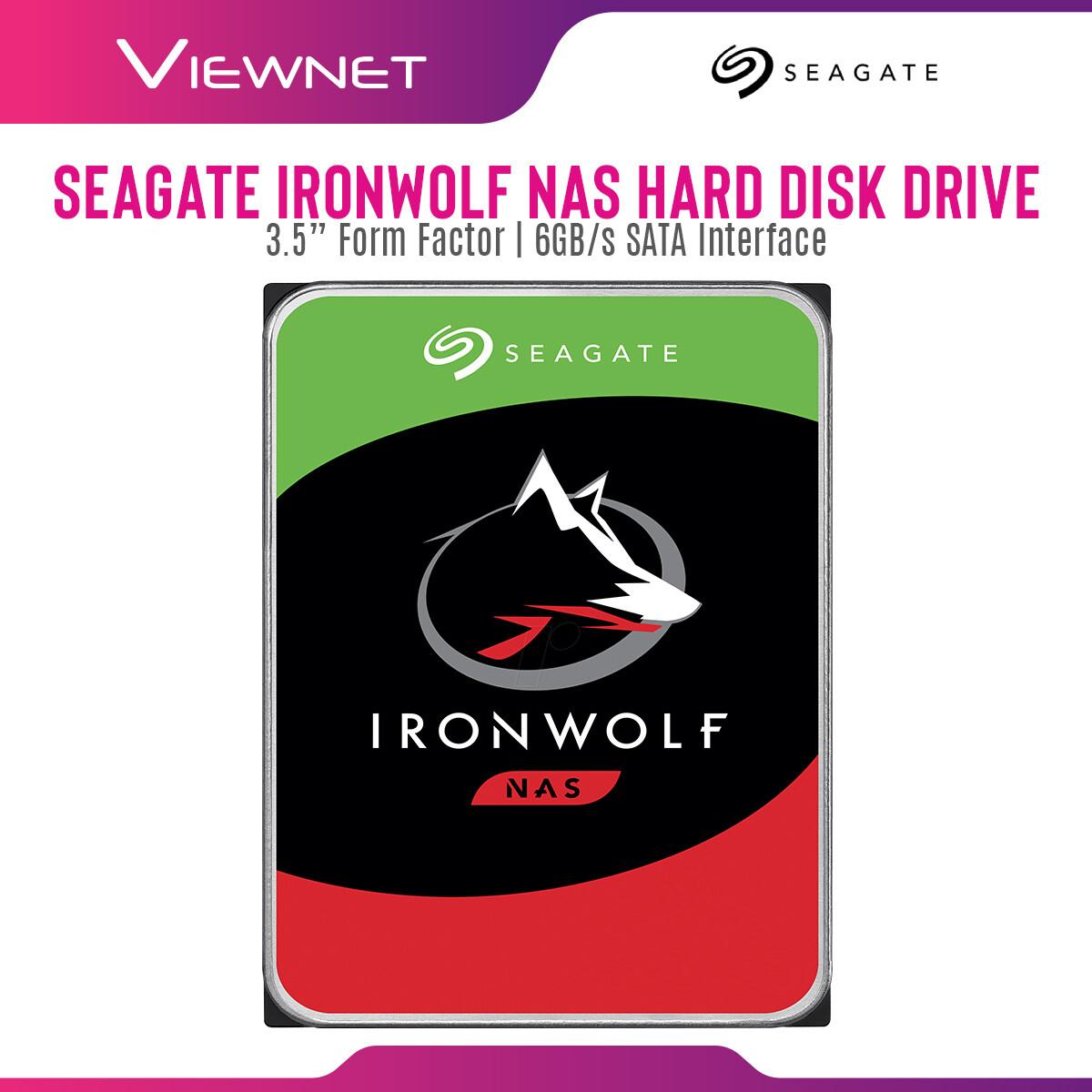 Seagate Ironwolf 1TB/2TB/3TB/4TB Internal Hard Drive - 5900RPM SATA 6Gb/s 64MB Cache 3.5