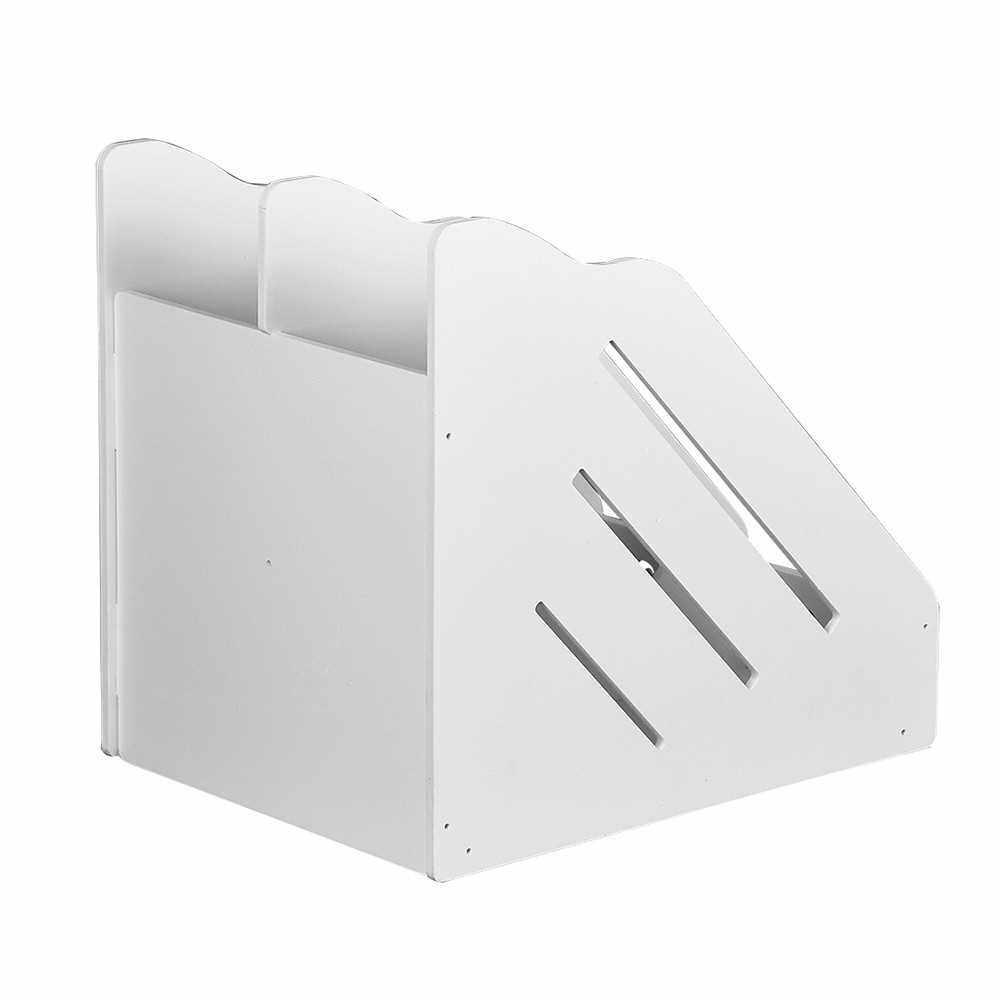 Book Magazine Holder Desk Organizer Stationery Storage Stand Shelf Rack Desktop File Rack Storage Artifact Multi-layer Large Capacity Office Stationery Shelf (8)