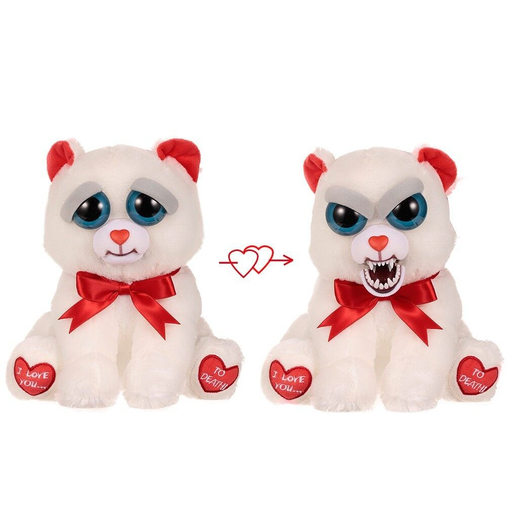 Feisty Pets Bear Taylor Truelove Feisty Films Adorable Plush Stuffed Toy Turn Feisty with a Squeeze Special Valentine\'s Gift