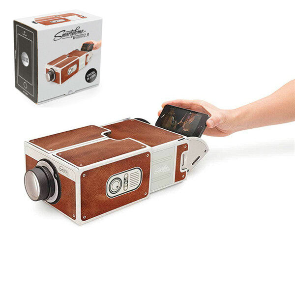 DIY 3D Projector Cardboard Mini Smartphone Projector Light Novelty Adjustable Mobile Phone Projector Portable Cinema