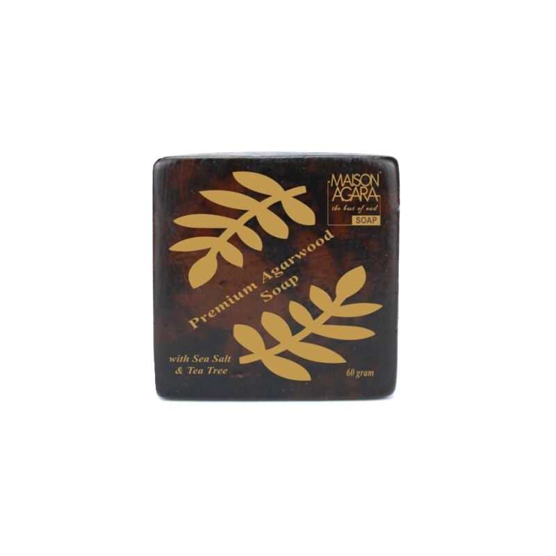 Maison Agara Premium Agarwood, Sea Salt & Tea Tree Soap