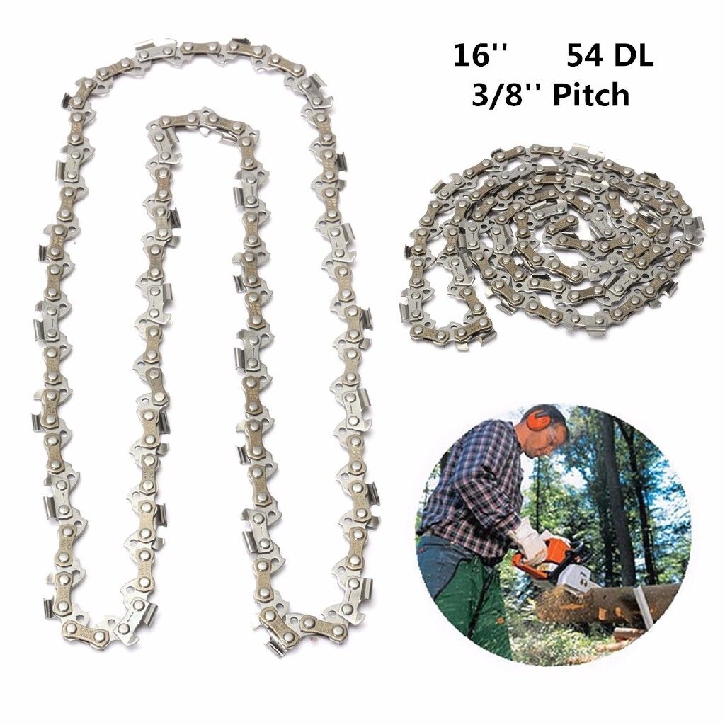 DIY Tools - Replacement 16\'\' Chainsaw Saw Mill Chain 54 Drive Links 3/8\'\' Pitch 050 Gauge - Home Improvement