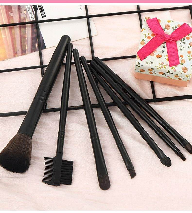 Make-up For You 7 Pieces Makeup Brush Set with Pouch . Ready Stock