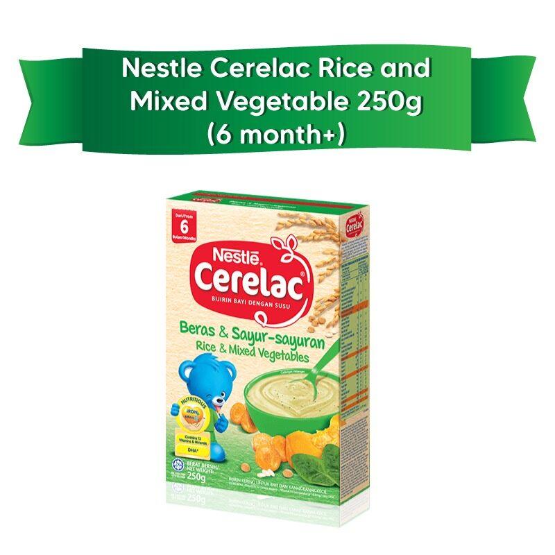 Nestle Cerelac Beras&Sayur-Sayuran/ Rice&Mixed Vegetables (6 months or above) 250g