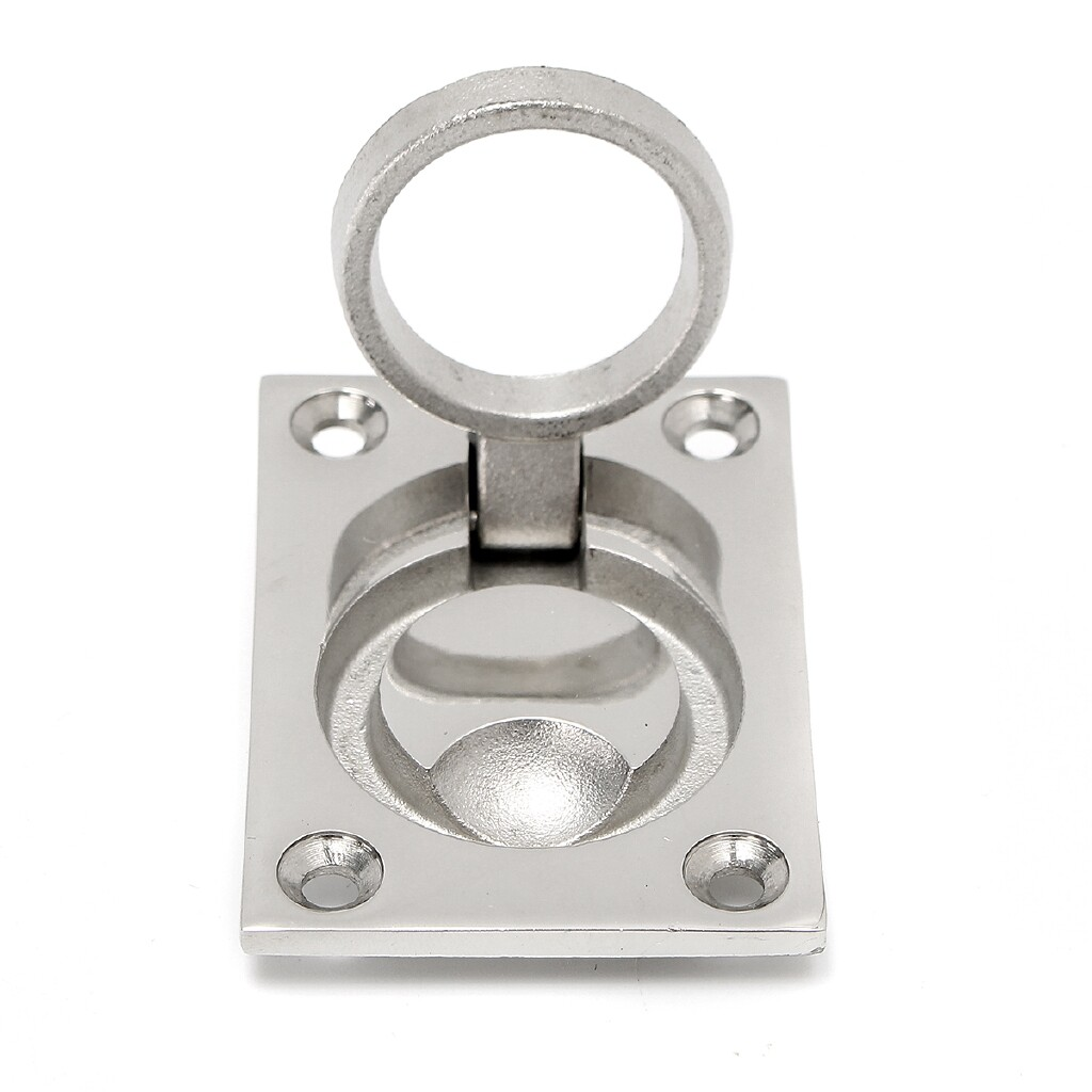 Moto Spare Parts - 316 Stainless Steel Boat Marine Hatch Locker Flush Lift Handle Ring Floor Buckle - Motorcycles, & Accessories