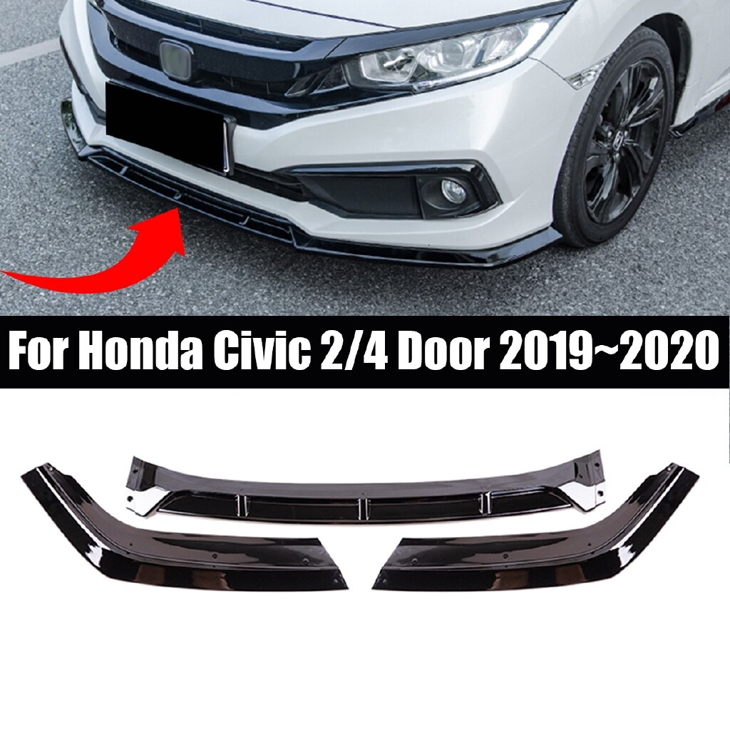 Automotive Tools & Equipment - 1 SET 3 Pieces Of Front Bumper Lip Spoiler JDM Front Bumper Lip Spoiler Splitter For Honda Civic - Car Replacement Parts
