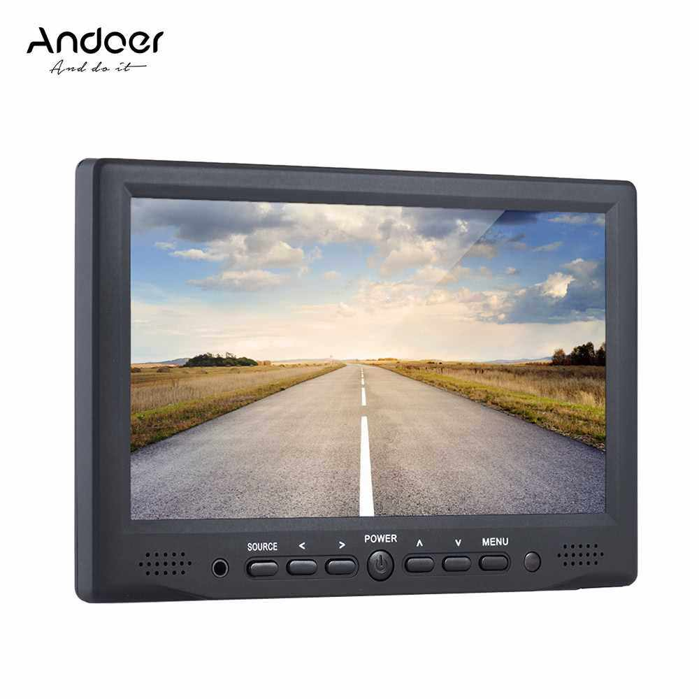 Andoer AD-701 Professional Digital Field Monitor HD LCD Display High Definition Multimedia Interface Input for DSLR Camera (Black Red)