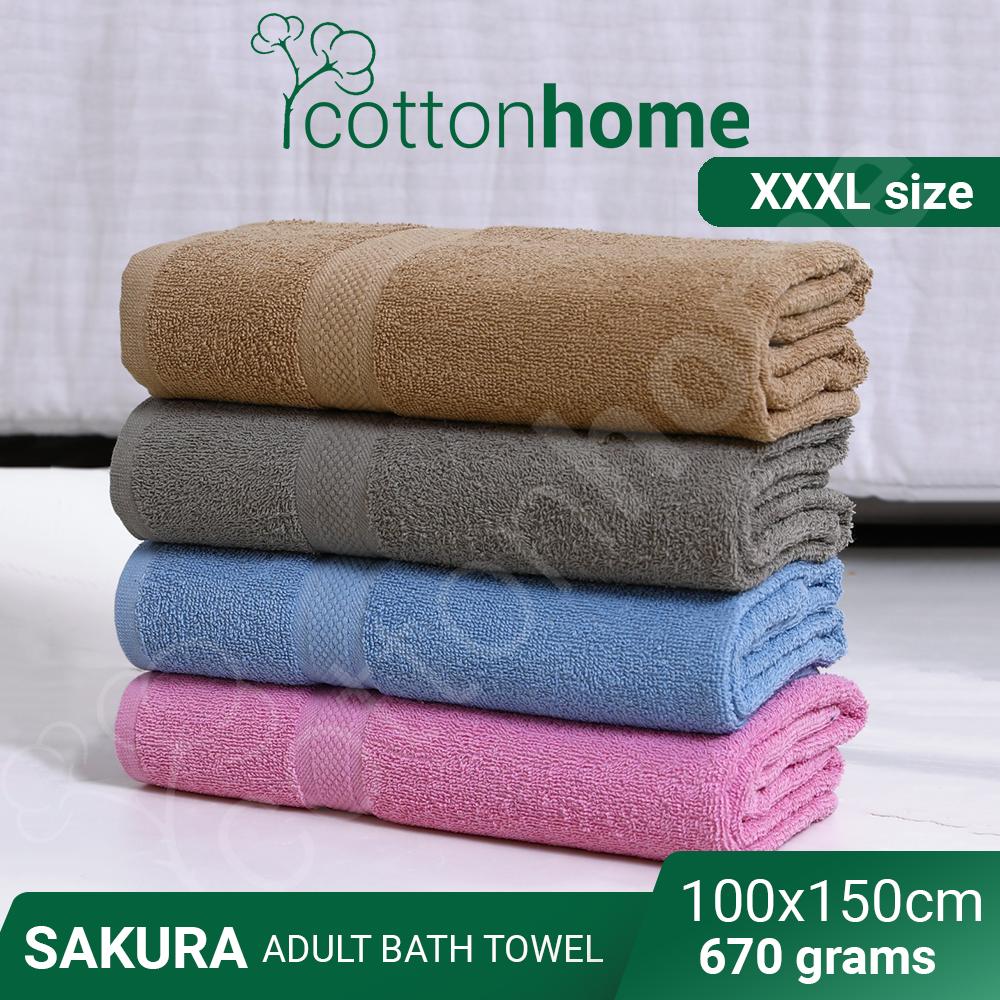 XXXL SAKURA adult BATH TOWEL Sheet / Tuala Mandi | 100% Natural Cotton | - 100cmx150cm Standard size | 600grams | NEW FRESH STOCK | WATER Absorbent | FAST SHIPPING