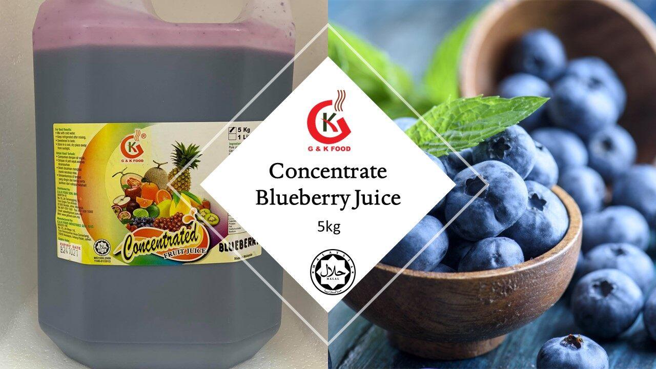 [100% JAKIM HALAL] 5kg Concentrate Blueberry Juice/ Blueberry Milk Shake/ Ice Blended Blueberry/ Stock Cukup!!!