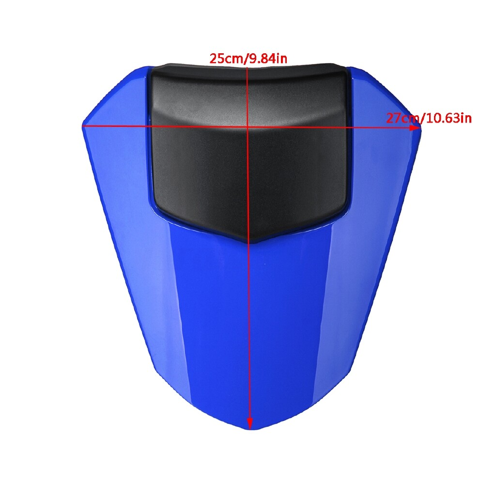 Moto Accessories - Rear Pillion Seat Cowl Fairing Cover Passenger For Yamaha YZF R6 2008 -2009 BS1 - CARBON COLOR / BLUE / RED / WHITE / BLACK