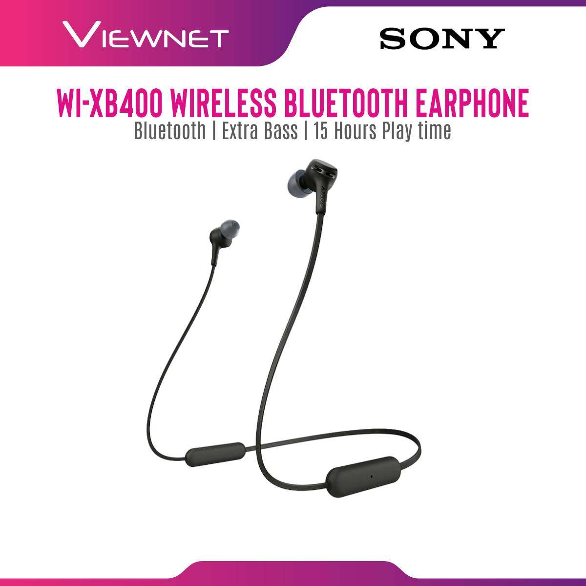 Sony Wireless In-ear Headphones WI-XB400 black Extra Bass Bluetooth Quick Charge 12mm Driver