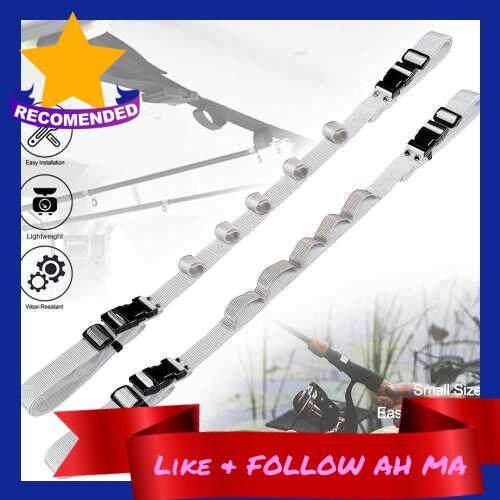 Best Selling 2PCS SUV/MVP/RV Vehicle-Mounted Fishing Rod Rack Fishing Rod Support Vehicle-Mounted Fixed Fishing Rod Strap (Grey)