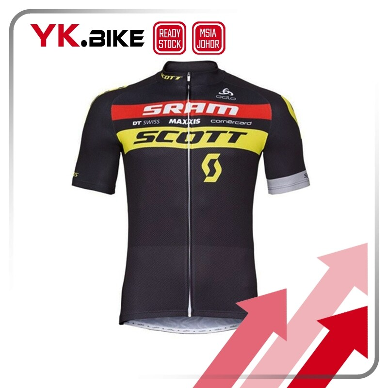 YKBIKE [LOCAL READY STOCK] Cycling Jersey Set Short Sleeve Jersey And Short Pant Bicycle Kit Outdoor Quick Dry APL113