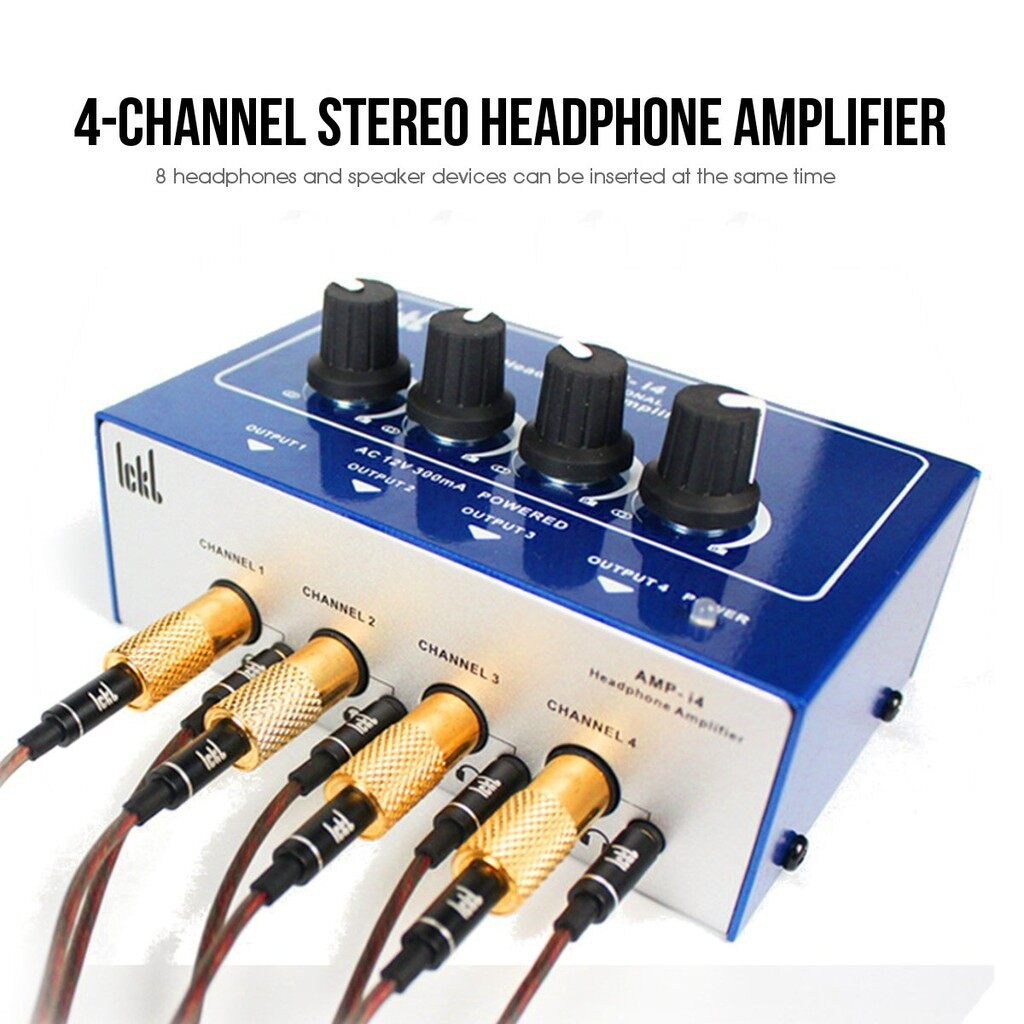 Mobile Audio Earbuds - MINI Pro 4 Channel Earphone Headphone Audio AUX Stereo Amp Hifi Amplifier MDB