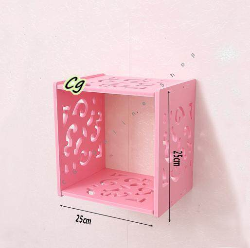 [ Ready Stock ] Wall Shelves Square Cube for Home Decor