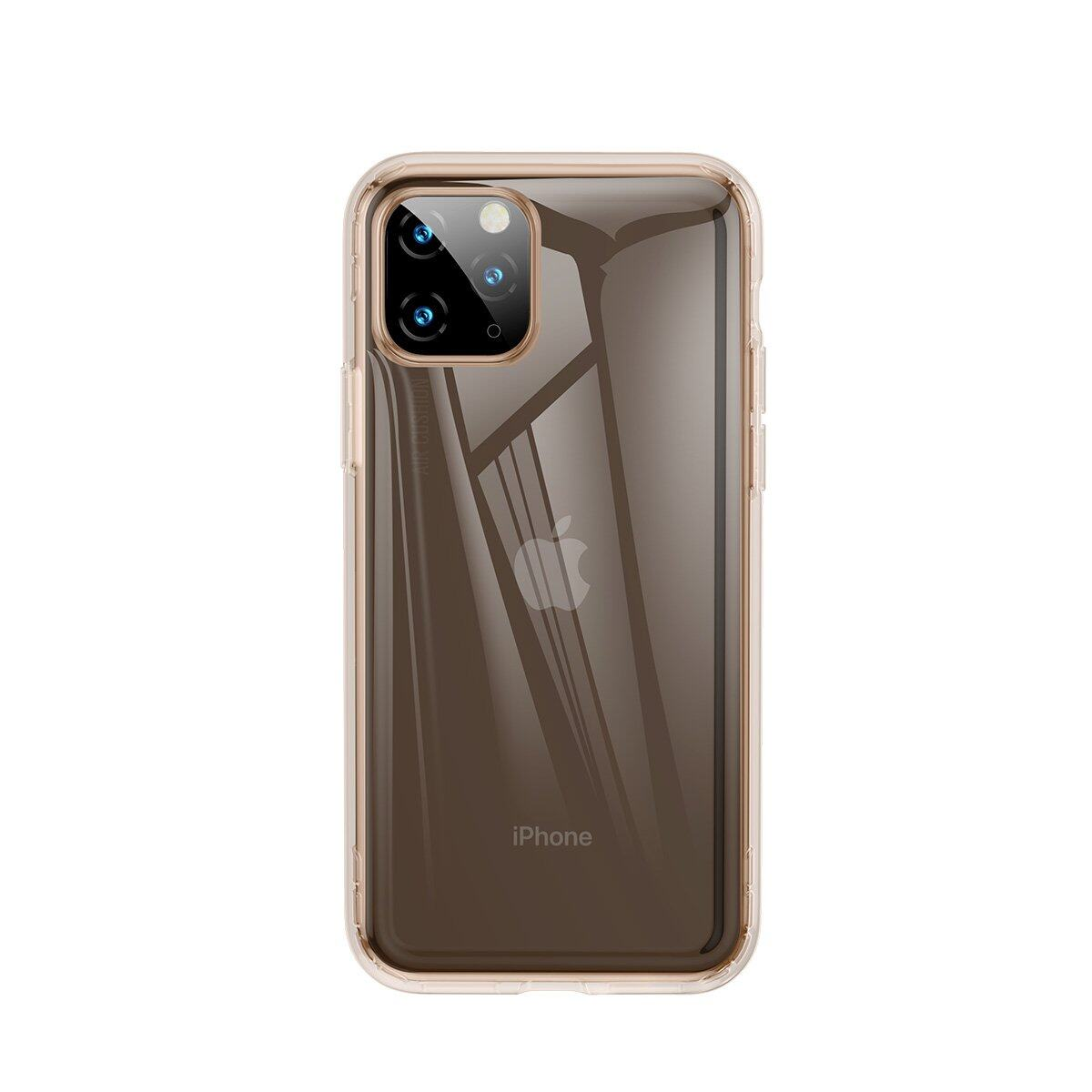 Baseus Safety Airbags Case For iPhone 11 Pro 5.8inch,  TPU Material, Anti-fingerprint, Durable and Flexible, Four corner cushioning for shock resistant protection, Transparent / Black / Gold