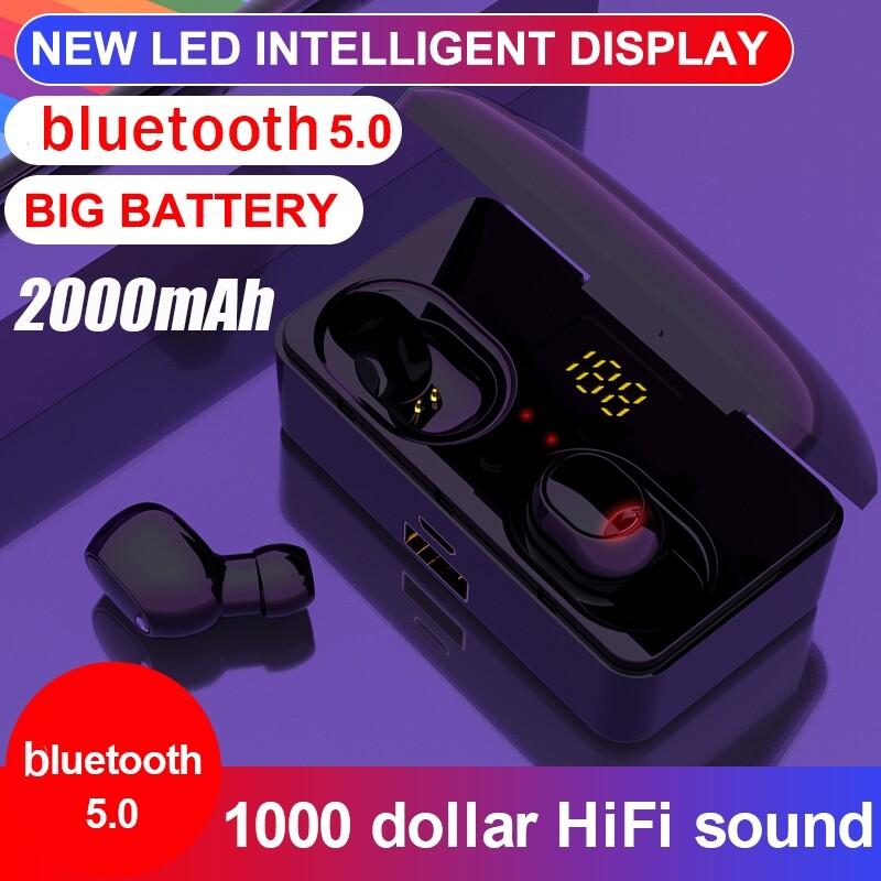 Over-Ear Headphones - 2000mAh BLUETOOTH5.0 WIRELESS Earphones LED Display Head SET Stereo Earbuds - BLACK / RED / WHITE