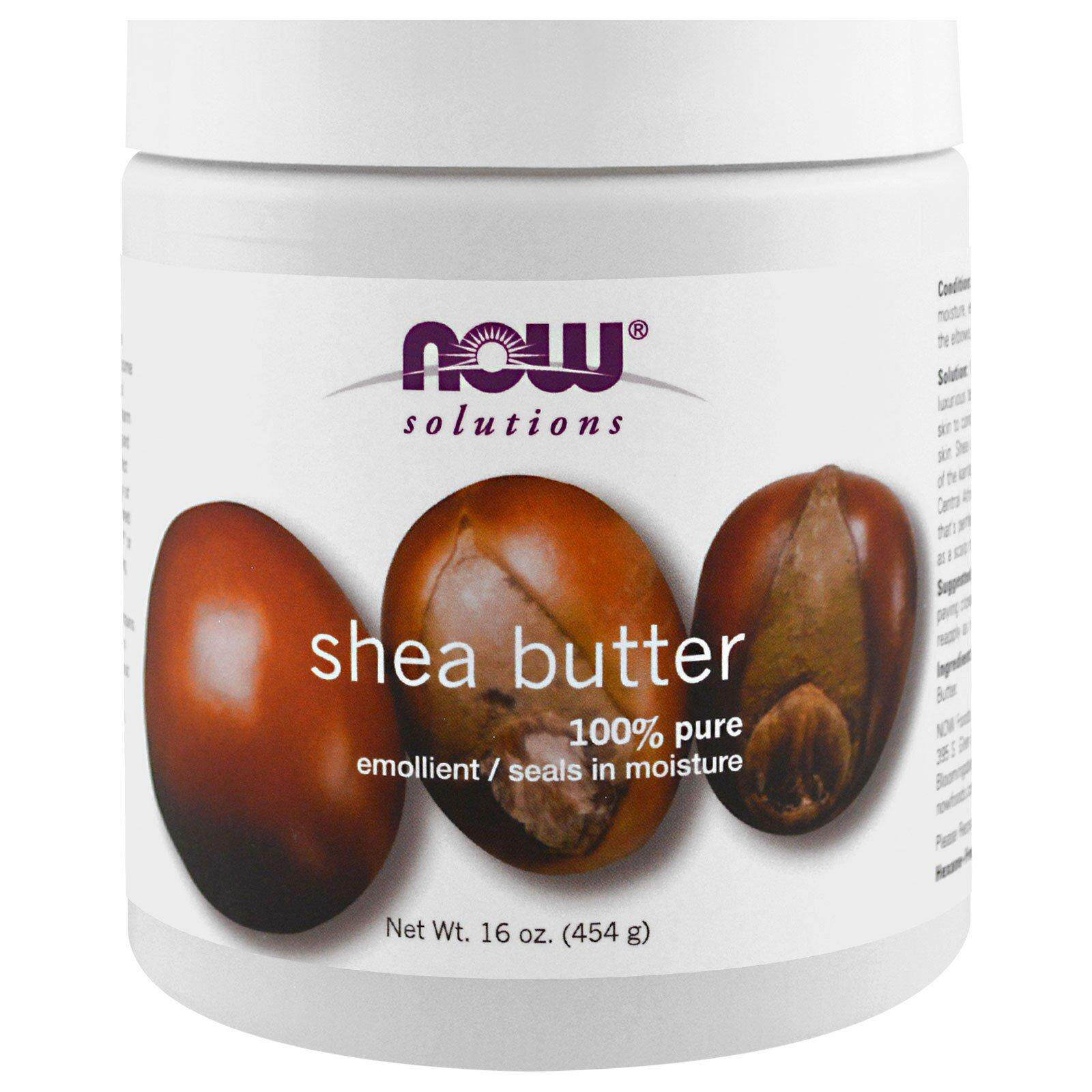 Now Foods, Solutions, Shea Butter (Big 454 g)