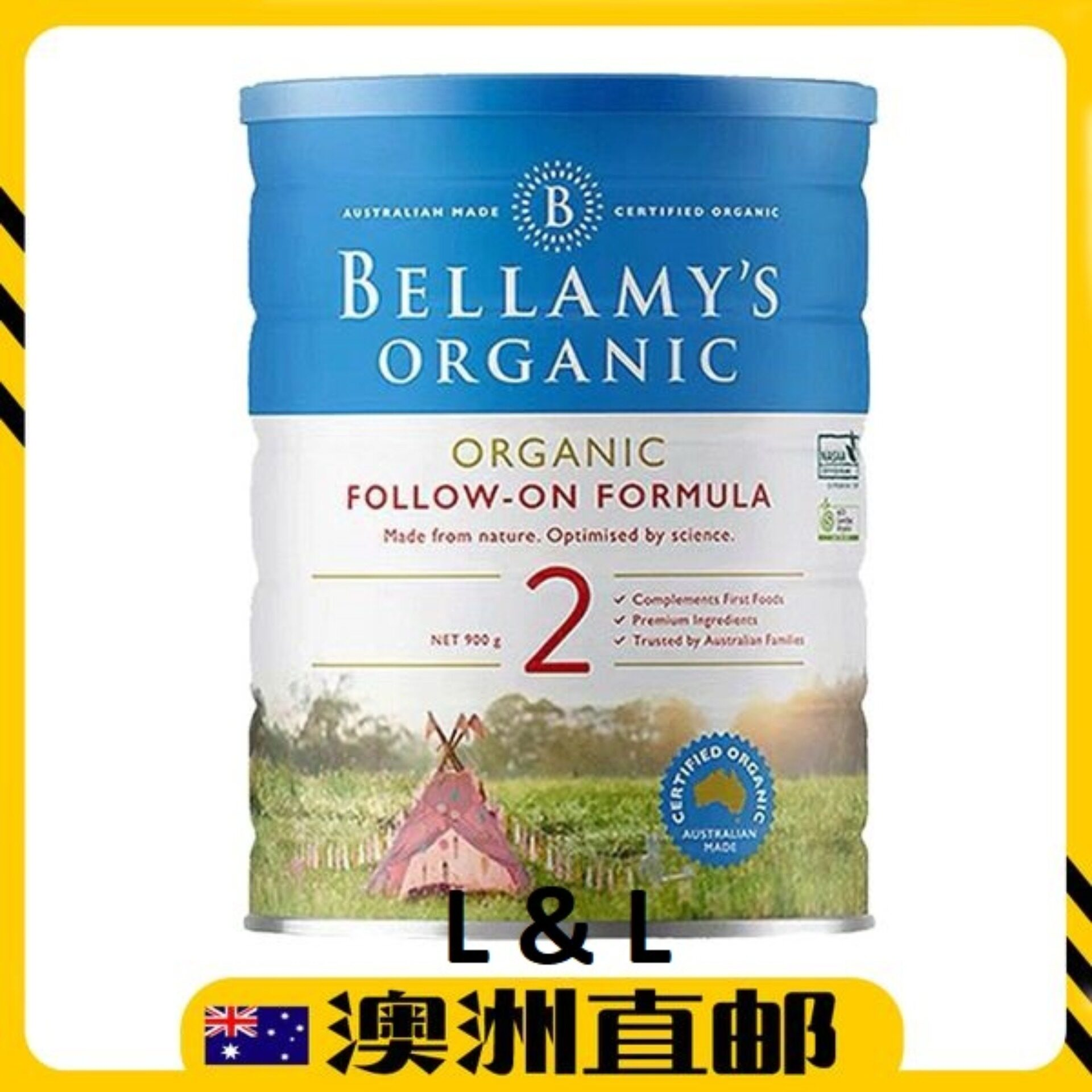 [Pre Order] Australia imported Bellamys Organic Follow On Formula Step 2 900g
