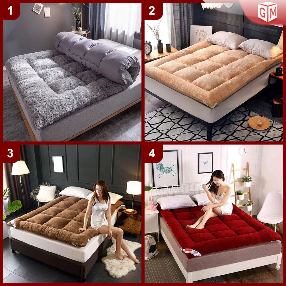 EXCLUSIVE HIGH QUALITY Queen/King Size Tatami Solid Bed Mattress Topper Tilam Protector Bedding - Tilam Gebu Lembut BERKUALITI TINGGI (BT-1)