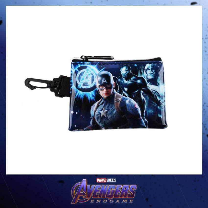 Marvel Avengers Endgame Coin Purse Pouch Bag With Hook - Blue Colour