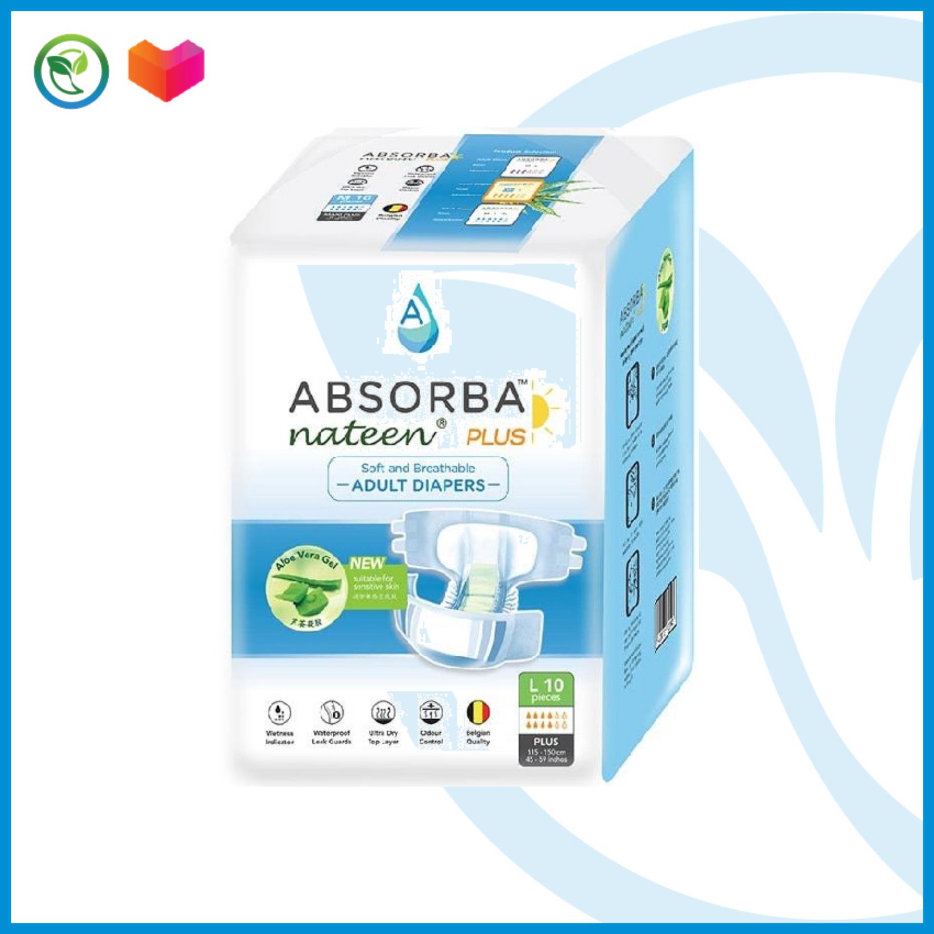 Absorba Nateen Plus L 10's