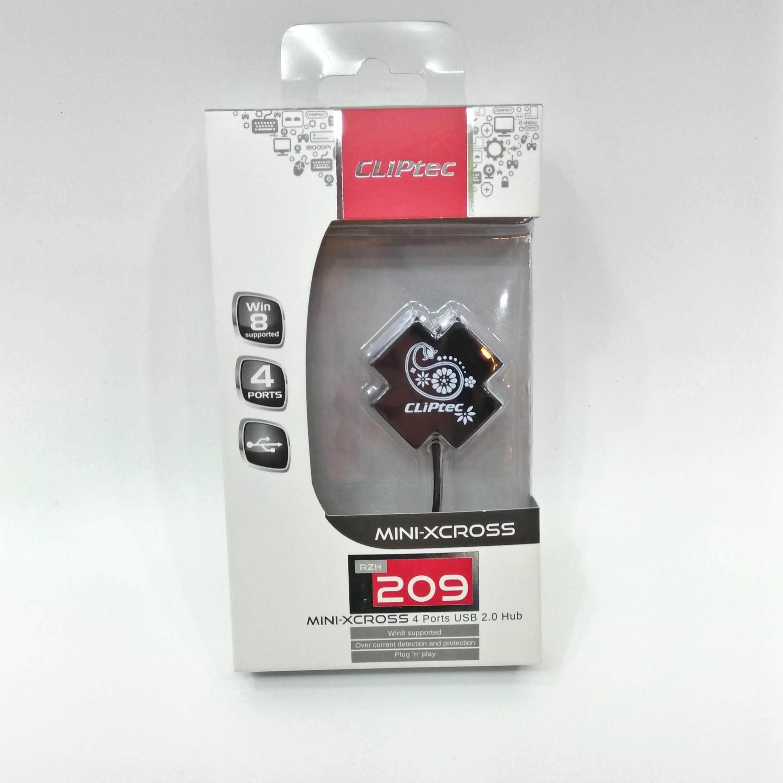 CLiPtec MINI-XCROSS USB 2.0 4 Port Hub RZH209