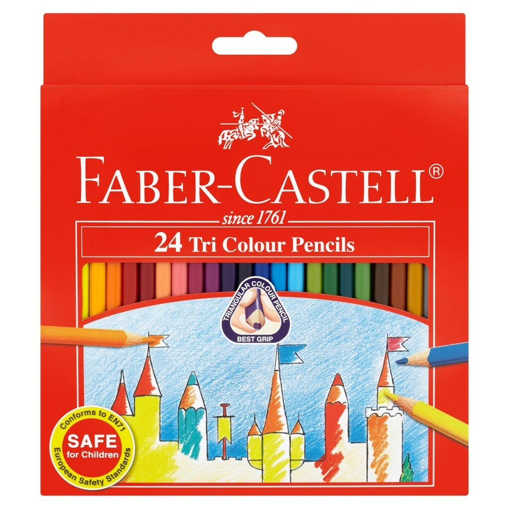 Faber-Castell 24 Tri Coloured Pencils 115834