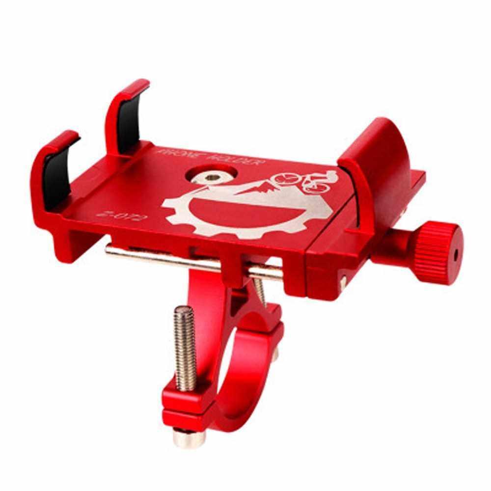 Best Selling Mobile Phone Holder Bicycle Phone Navigation Fixed Bracket Bike Handlebar Aluminum Alloy Phone Holder (Red)