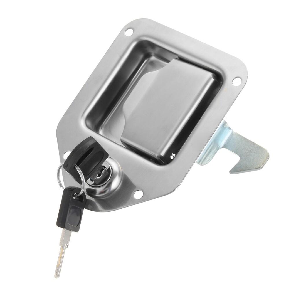 Automotive Tools & Equipment - Steel Toolbox Lock Paddle Handle Door Lock & Key Truck RV Trailer 4-3/8 3-1/4 - Car Replacement Parts